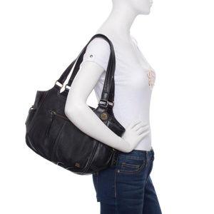 The Sak Kendra Satchel Black Purse Bag